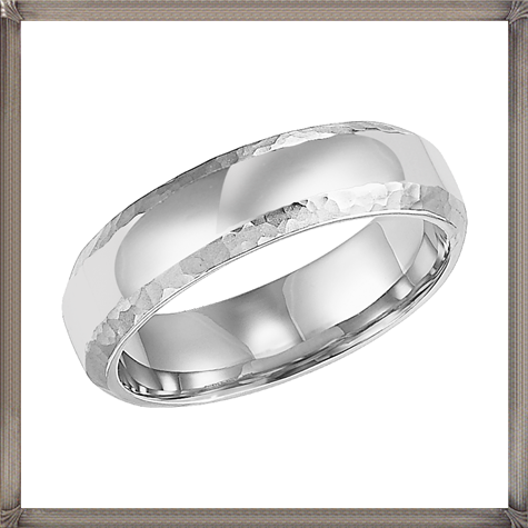 ArtCarved-Hammered-Edges-Mens-Wedding-Band 5 CRITICAL Tips You Should Keep in Mind When Buying Men's Silver Wedding Bands