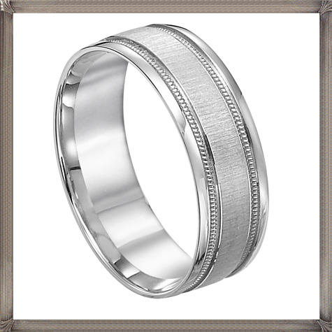Artcarved-Platinum-Mens-Wedding-Band-with-Texture-Details 5 CRITICAL Tips You Should Keep in Mind When Buying Men's Silver Wedding Bands