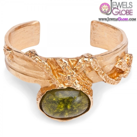 Arty-gold-plated-and-enamel-cuff-bracelet 35 Hot Cuff Bracelets For Women