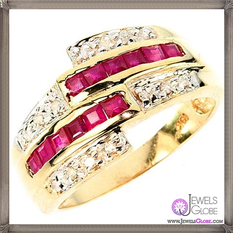 BIG-10KT-gold-real-diamond-and-ruby-ring-WOW 32+ Most Elegant Genuine Ruby Rings For Women