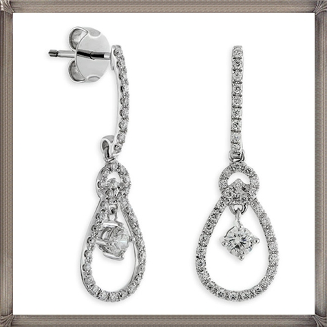 Ben-Bridge-Signature-Diamond-Earrings-in-14K Latest Signature Diamond Earrings For Women