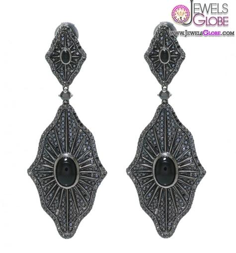 Black-Diamond-Drop-Earrings Latest Fashion Black Diamond Earrings For Women