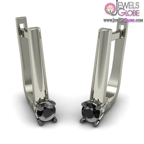 Black-Diamond-Earring-In-18Kt-White-Gold Latest Fashion Black Diamond Earrings For Women