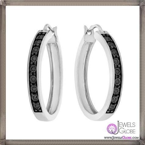 Black-Diamond-Hoop-Earrings-in-Sterling-Silver These Are The BEST 32 Diamond Hoop Earrings You'll See (Plus Shopping Tips)