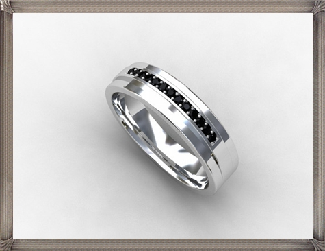 Black-Diamond-ring-mens-wedding-band-Silver-wedding 5 CRITICAL Tips You Should Keep in Mind When Buying Men's Silver Wedding Bands