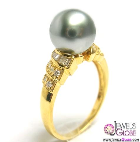 Black-Tahiti-Pearl-Diamond-Ring Top Pearl Rings For Sale
