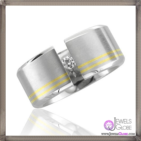 Black-and-White-Real-Cheap-Mens-Stainless-Steel-Diamond-Band-Ring 5 CRITICAL Tips Before Buying Cheap Men's Jewelry PLUS Most Popular Designs