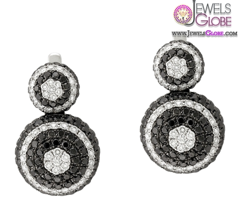 Black-and-white-diamond-earrings-from-Yael-Designs-Mosaic-Collection Latest Fashion Black Diamond Earrings For Women