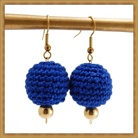 Blue-Crochet-Earrings Best Ways to Choose Most Stylish Earrings