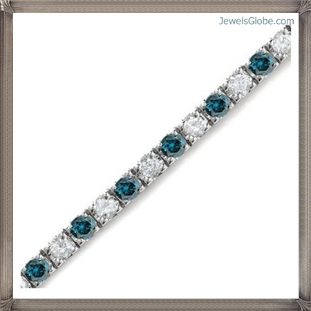 Blue-Diamond-Bracelet Fancy Blue Diamond Bracelets (Hot Designs)