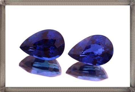 Blue-Sapphire-Pear-Shape-Pair-Tanzanite-Loose-Gemstones-Tanzanite Steps To Take When Buying Loose Gemstones