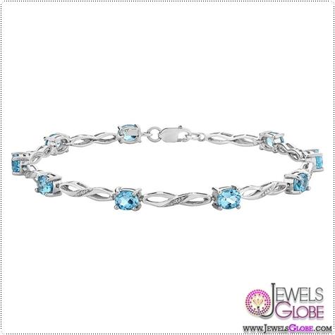 Blue-Topaz-Infinity-Bracelet-3.0-Carat-ctw-with-Diamonds-in-10K-White-Gold Blue Topaz Tennis Bracelet