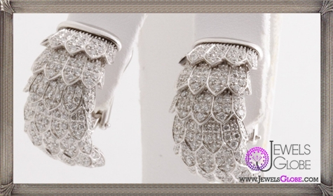 Brand-New-ROBERTO-COIN-18k-White-Gold-and-Diamond-Fringe-Earrings Best 18 Roberto Coin Earrings Designs