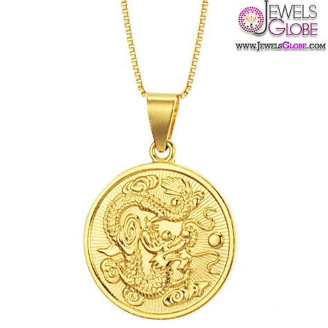 Brand-new-design-18K-gold-necklace-Circular-dragon-pendant The 29 Most Popular Gold Pendant Designs For Women