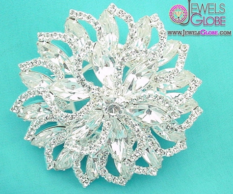 Bridal-Jewelry-Wedding-Brooch The 11 Best Designs of Rhinestone Brooches for Women