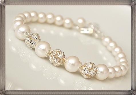 Bridal-Pearl-Bracelet-Wedding-Jewelry-Rhinestone-Bling-Bracelet 28+ Most Amazing Pearl Bracelets For Brides