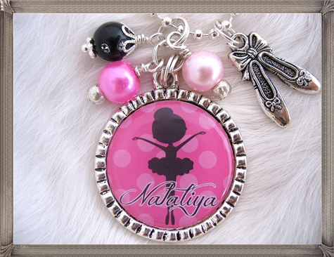 CHILDRENS-BALLET-Necklace-Personalized-Bottle-cap-Dance-Jewelry 16 STYLISH and Attractive Kids Jewelry Designs