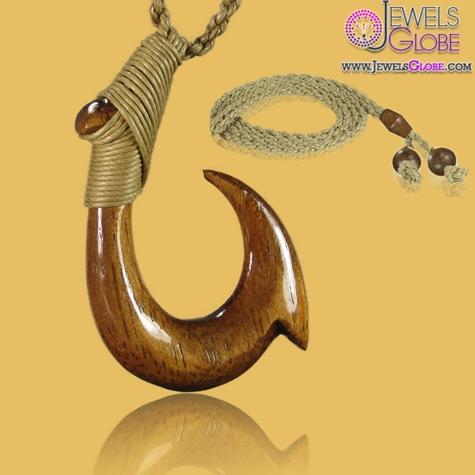 Carved-Hawaiian-Koa-Wood-Fish-Hook-Necklace The 20 Most Stylish Hawaiian Necklaces For Women
