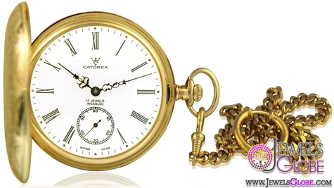 Catorex-Mens-Les-Breuleux-Collection-Automatic-White-Dial-Men-Pocket-Watch Latest pocket watches for men (HOT Styles)
