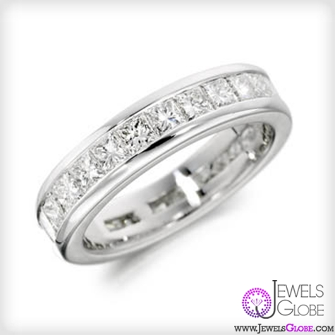 Charles-Green-18ct-princess-cut-diamond-eternity-ring Single Row Diamond Anniversary Bands