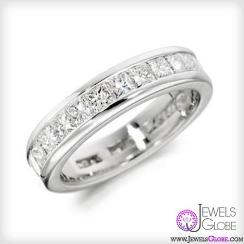 Charles-Green-18ct-princess-cut-diamond-eternity-ring Single Row Diamond Anniversary Bands