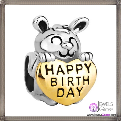 Christmas-Gifts-Pugster-Cute-Silver-Rabbit-Holding-Gold-Heart-Happy-Birthday-European-Beads-Fits-Pandora-Charm-Bracelet Pandora Jewelry and Its Top Stores