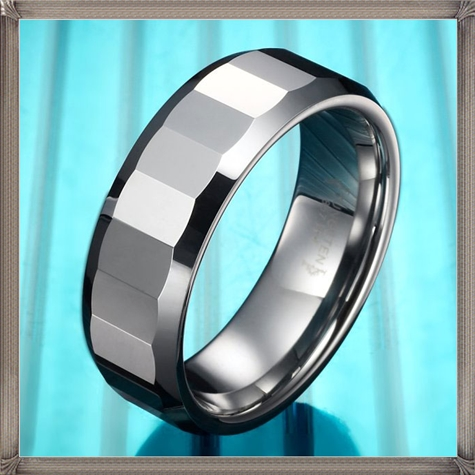 Classic-Mens-Tungsten-Ring-Engagement-Wedding-Band-Silver 5 CRITICAL Tips You Should Keep in Mind When Buying Men's Silver Wedding Bands