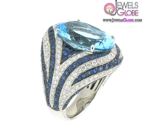 Colored-Sapphire-and-Blue-Topaz-gemstone-engagement-rings The Most Stylish Gemstone Engagement Rings