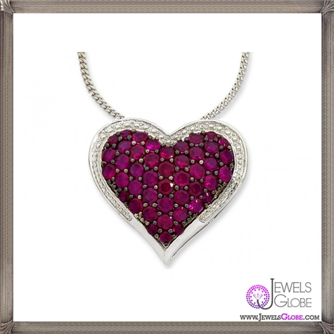 Created-Ruby-and-Diamond-Heart-Necklace The 28 Best Diamond Heart Necklaces & Pendants For Women and Buying TIPS