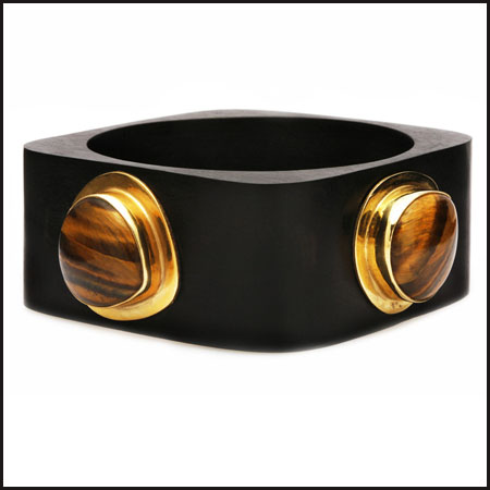 Cubist-Ebony-Tigers-Eye-Bangle Best 7 Bangles Collection That Amaze Each Woman