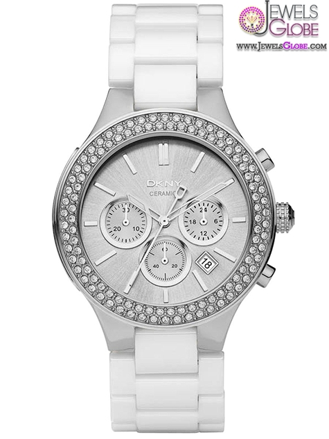 DKNY-Ceramic-Chronograph-Silver-Dial-Womens-Watch The Best DKNY Watches For Women