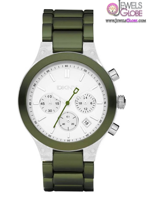DKNY-Chronograph-White-Dial-Green-Womens-Watch The Best DKNY Watches For Women
