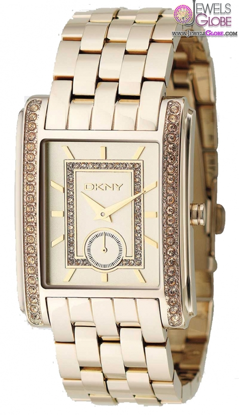 DKNY-Essentials-Womens-Gold-Tone-Crystal-Accent-Watch The Best DKNY Watches For Women