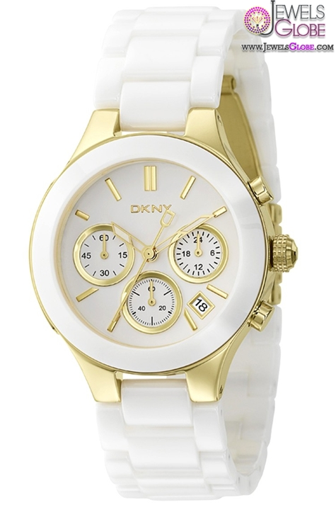 DKNY-White-Ceramic-Band-White-Dial-Womens-Watch The Best DKNY Watches For Women