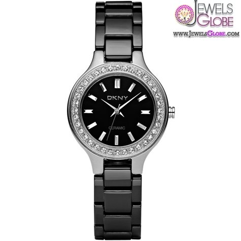 DKNY-Womens-Ceramix-Stone-Set-Black-Ceramic-Watch The Best DKNY Watches For Women