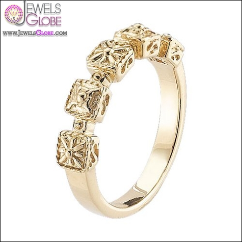 Delatori-18kt-Gold-Plated-Sterling-Silver-Square-Station-Stackable-Ring Best Gurhan Jewelry Designs That Amaze Women