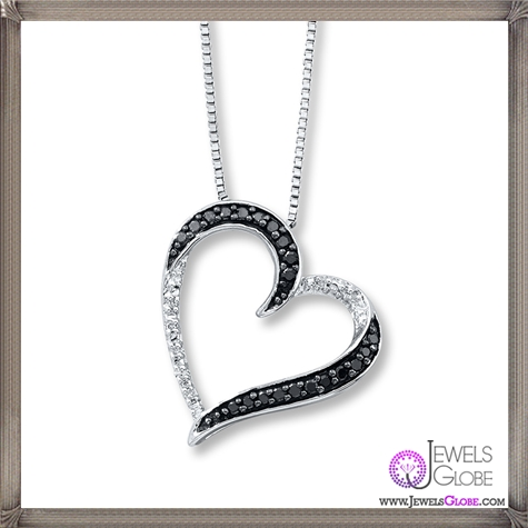 Diamond-Heart-Necklace-Round-cut-Sterling-Silver The 28 Best Diamond Heart Necklaces & Pendants For Women and Buying TIPS