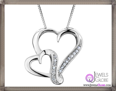 Diamond-Heart-Pendant-Necklace-in-Sterling-Silver-with-Chain The 28 Best Diamond Heart Necklaces & Pendants For Women and Buying TIPS