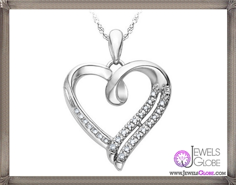 Diamond-Heart-Pendant-Necklace-in-Sterling-Silver The 28 Best Diamond Heart Necklaces & Pendants For Women and Buying TIPS