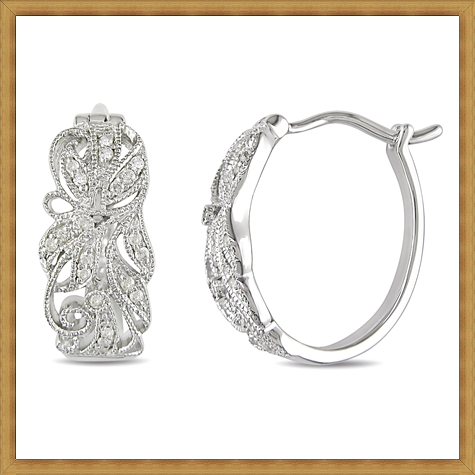 Diamond-Hoop-Earrings-in-Sterling-Silver Best Ways to Choose Most Stylish Earrings