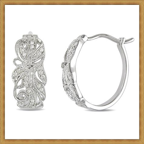 Diamond-Hoop-Earrings-in-Sterling-Silver Best Ways to Choose Most Stylish Earrings