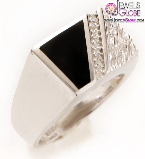 Diamond-Mens-Silver-Black-Onyx-Rings 19 Awesome Mens Sterling Silver Rings