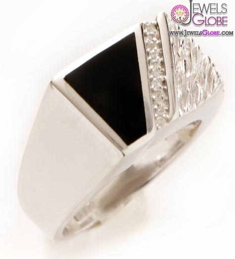 Diamond-Mens-Silver-Black-Onyx-Rings 19 Awesome Mens Sterling Silver Rings