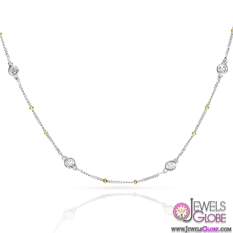 Diamond-Necklace-2.5-carat-ctw-in-18k-Two-Tone-Gold Best 10 Cheapest Diamond Necklaces For Sale