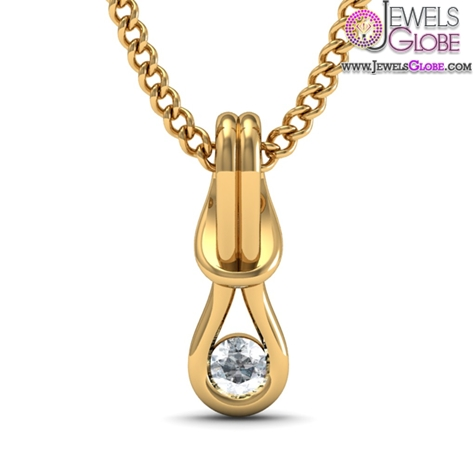Diamond-Pendant-In-18Kt-Yellow-Gold-for-women The 29 Most Popular Gold Pendant Designs For Women
