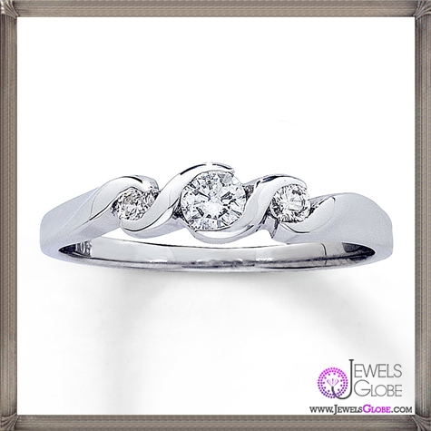 Diamond-Promise-Ring-Round-cut-14K-White-Gold Jared Jewelry and The TOP 20 Designs
