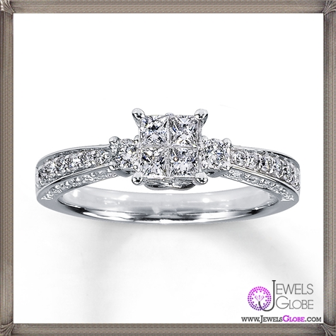 Diamond-Ring-Princess-14K-White-Gold Jared Jewelry and The TOP 20 Designs