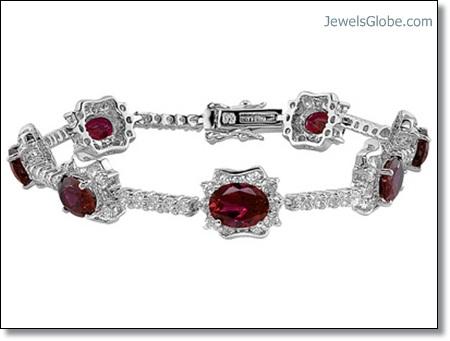 Diamond-and-Ruby-Gems-Tennis-Bracelet The 16 Top Ruby Tennis Bracelet Designs