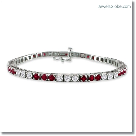 Diamond-and-Ruby-Tennis-Bracelet-with-great-designs-for-women The 16 Top Ruby Tennis Bracelet Designs