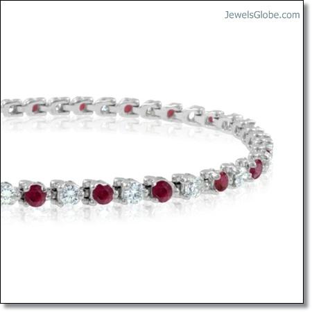 Diamond-and-Ruby-Tennis-Bracelet The 16 Top Ruby Tennis Bracelet Designs